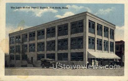 Lakin-McKey Overall Factory - Fort Scott, Kansas KS Postcard