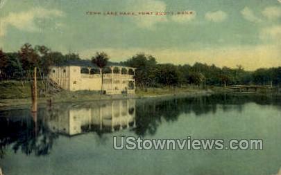 Fern Lake Park - Fort Scott, Kansas KS Postcard