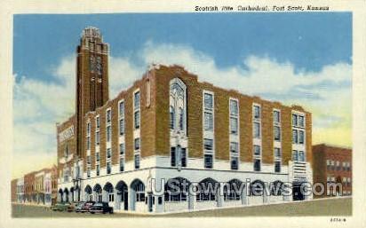 Scottish Rite Cathedral - Fort Scott, Kansas KS Postcard