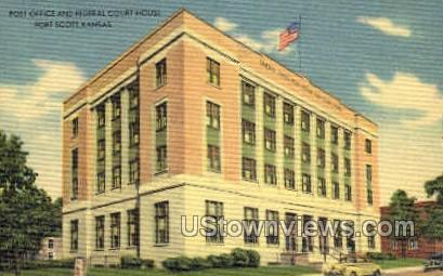 Post Office - Fort Scott, Kansas KS Postcard