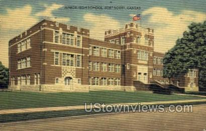 Junior High School - Fort Scott, Kansas KS Postcard