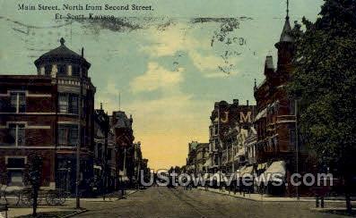 Main Street - Fort Scott, Kansas KS Postcard