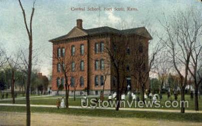 Central School - Fort Scott, Kansas KS Postcard