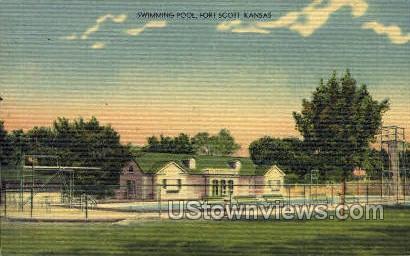 Swimming Pool - Fort Scott, Kansas KS Postcard