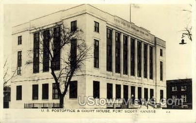 Real Photo - Post Office - Fort Scott, Kansas KS Postcard