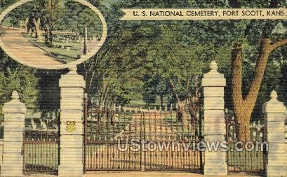 US National Cemetery - Fort Scott, Kansas KS Postcard
