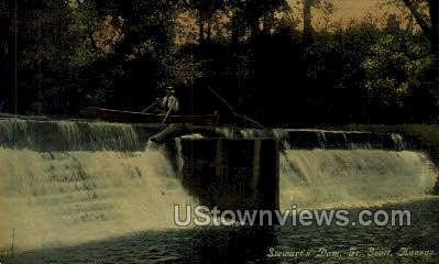 Stewart's Dam - Fort Scott, Kansas KS Postcard