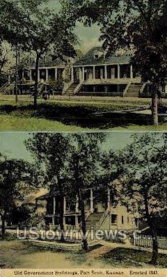 Old Government Bldg - Fort Scott, Kansas KS Postcard