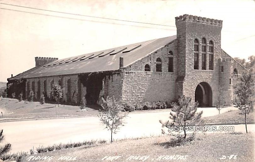Riding Hall - Fort Riley, Kansas KS Postcard