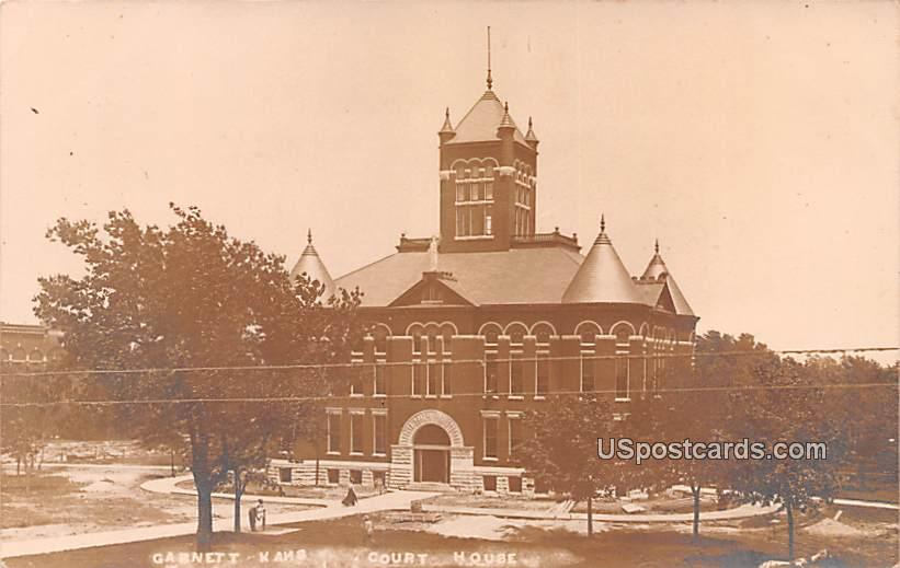 Court House - Garnett, Kansas KS Postcard