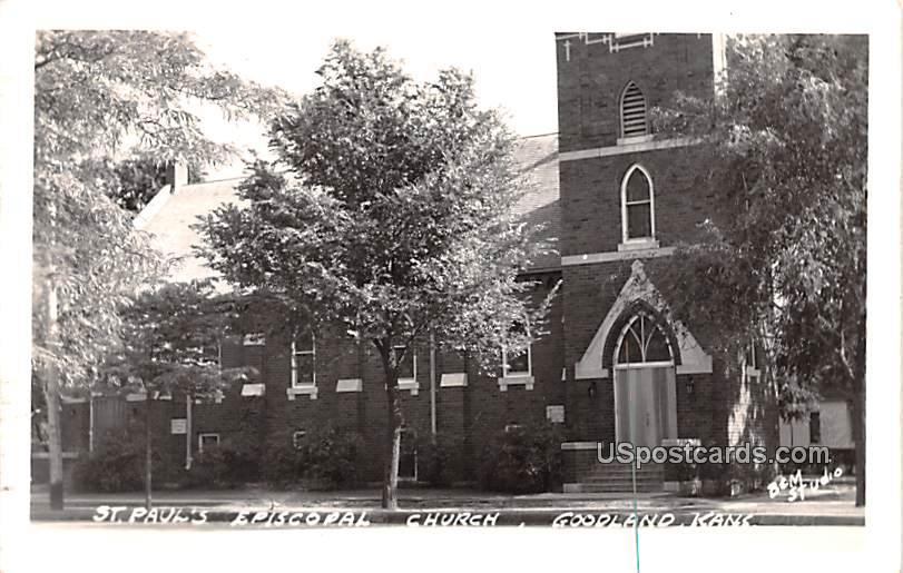 Saint Paul's Episcopal Church - Goodland, Kansas KS Postcard