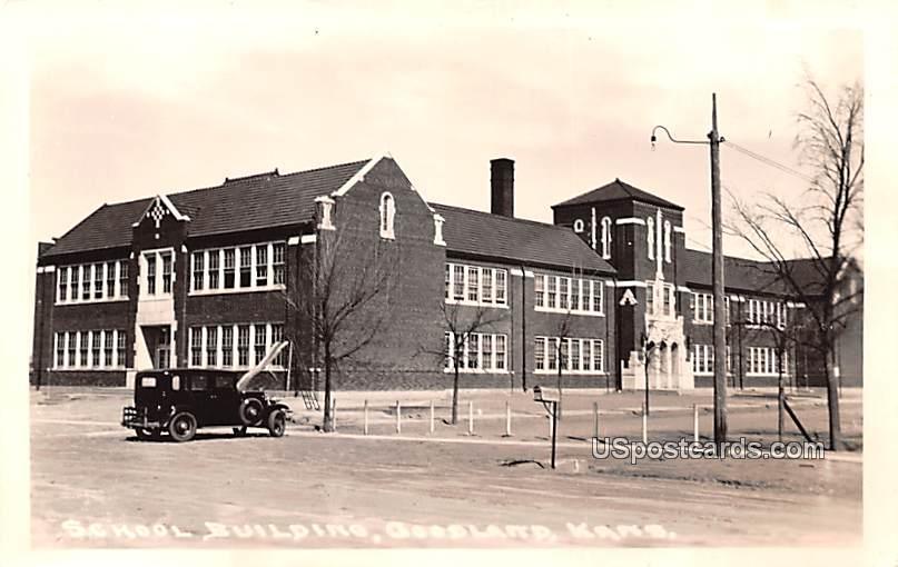 School Building - Goodland, Kansas KS Postcard