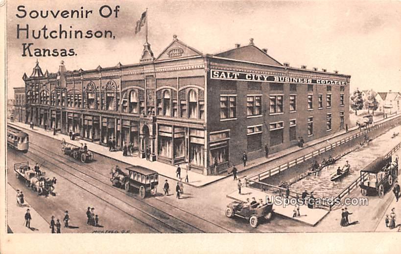 Salt City Business College - Hutchinson, Kansas KS Postcard
