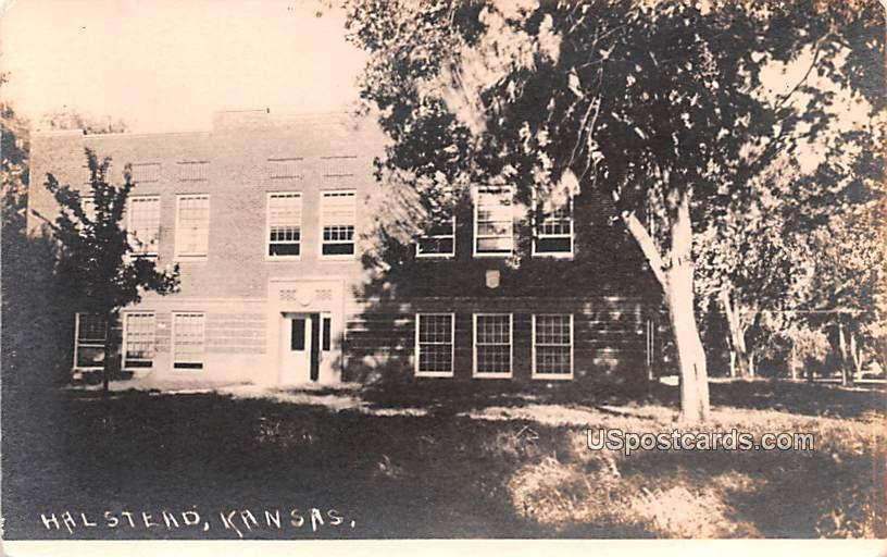 Building - Halstead, Kansas KS Postcard