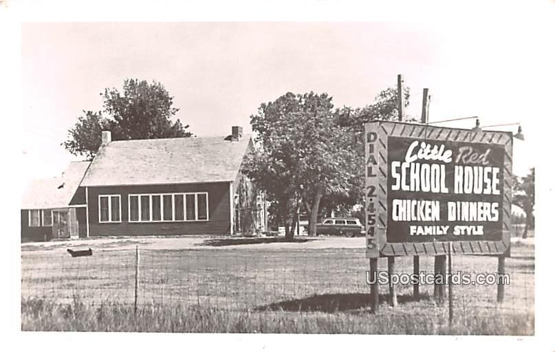 Little Red School House - Hutchinson, Kansas KS Postcard