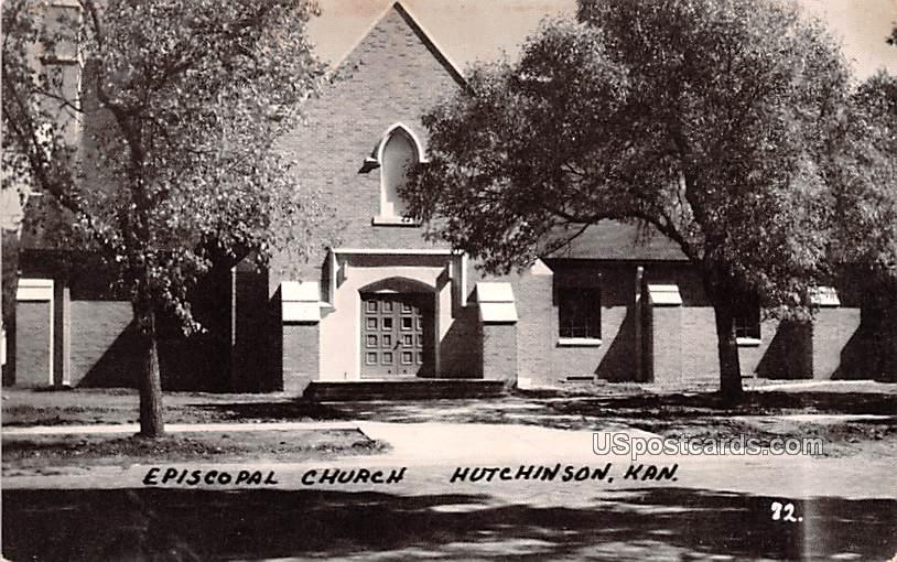 Episcopal Church - Hutchinson, Kansas KS Postcard