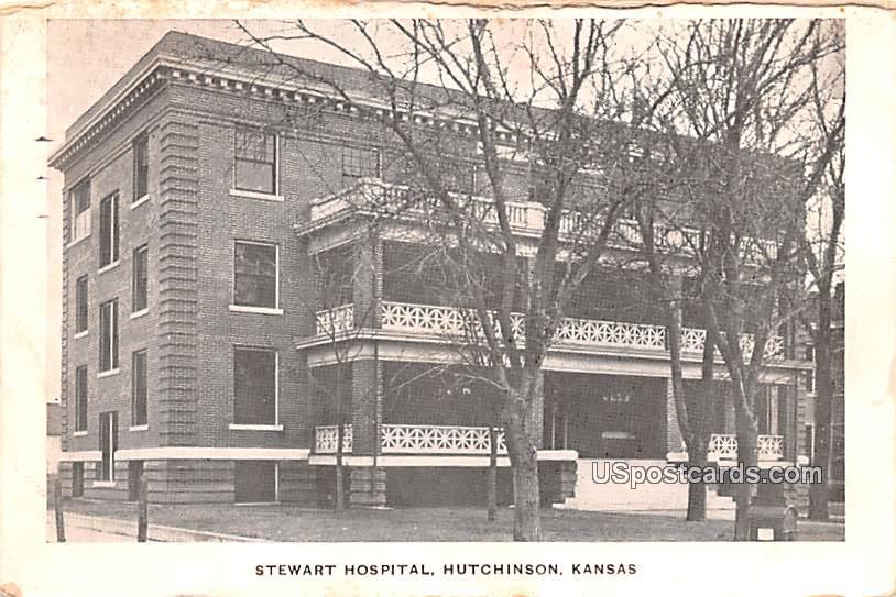 Stewart Hospital - Hutchinson, Kansas KS Postcard