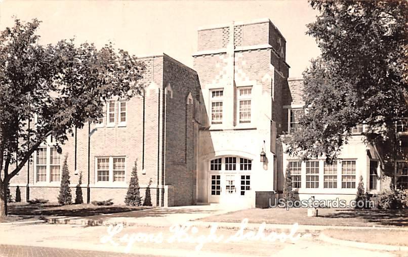 Lyons High School - Kansas KS Postcard
