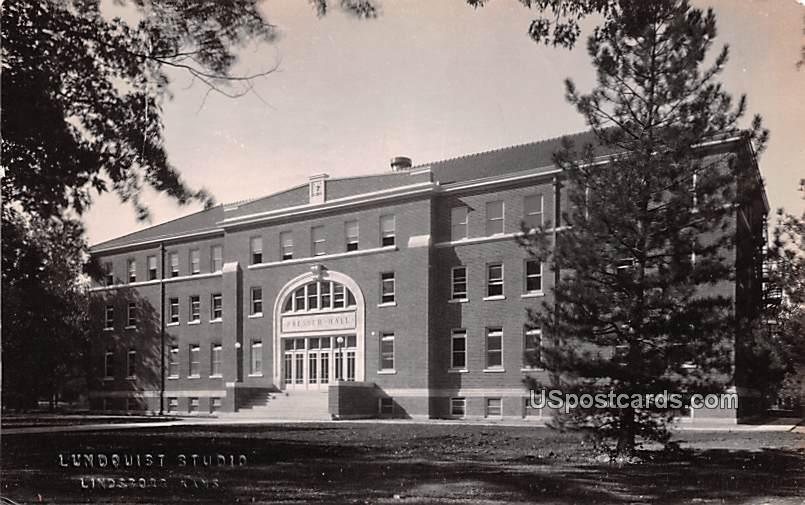 Presser Hall - Lindsborg, Kansas KS Postcard