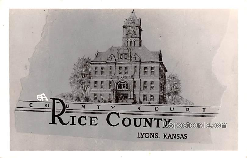County Court - Lyons, Kansas KS Postcard