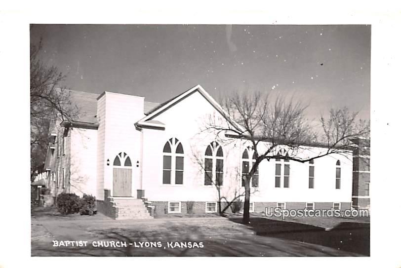Baptist Church - Lyons, Kansas KS Postcard