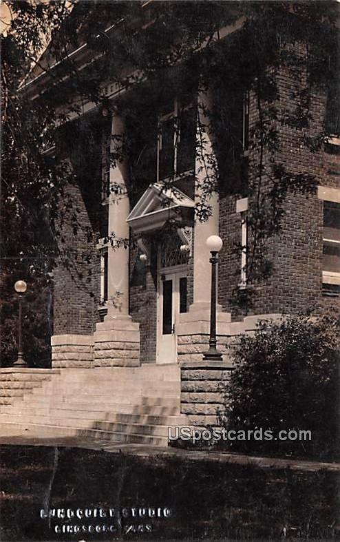 Bethany Library - Lindsborg, Kansas KS Postcard
