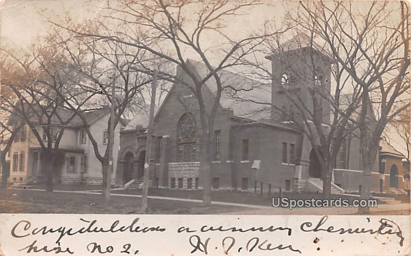 Church - Ottawa, Kansas KS Postcard