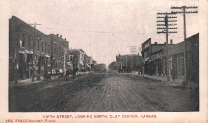 5th Street North - Clay Center, Kansas KS Postcard