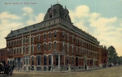 Masonic Temple - Fort Scott, Kansas KS Postcard