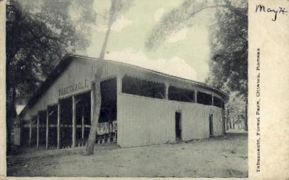 Tabernacle, Forest Park - Ottawa, Kansas KS Postcard