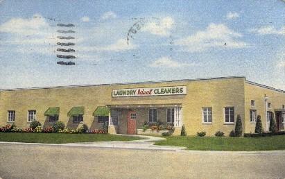 Ideal Laundry & Dry Cleaners - Hutchinson, Kansas KS Postcard