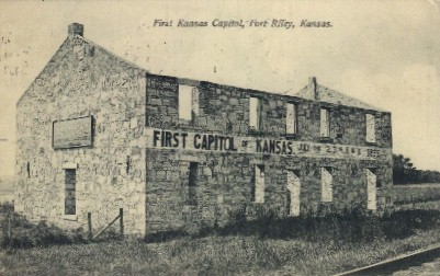 1st Kansas Capitol - Fort Riley Postcard