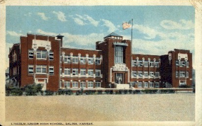 Lincoln Junior High School - Salina, Kansas KS Postcard