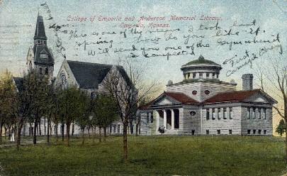 Anderson Memorial Library - Emporia, Kansas KS Postcard