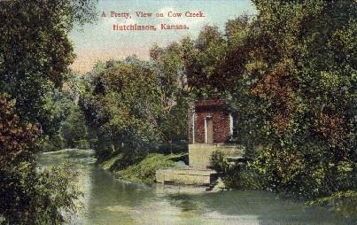Cow Creek - Hutchinson, Kansas KS Postcard
