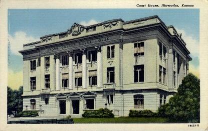 Court House - Hiawatha, Kansas KS Postcard