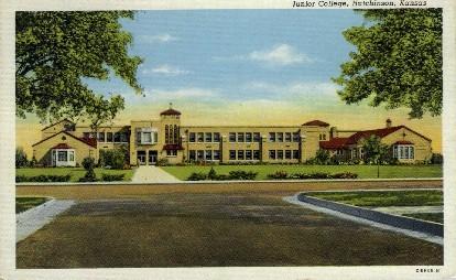 Junior College   - Hutchinson, Kansas KS Postcard