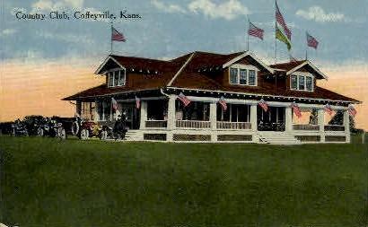 Country Club - Coffeyville, Kansas KS Postcard