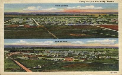 Camp Forsyth - Fort Riley, Kansas KS Postcard