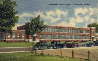 McFarland Trade School - Coffeyville, Kansas KS Postcard