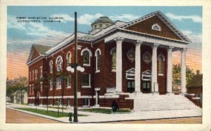 1st Christian Church - Hutchinson, Kansas KS Postcard