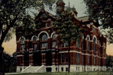 Franklin County Court House - Ottawa, Kansas KS Postcard