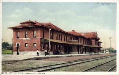 Santa Fe Hotel - Dodge City, Kansas KS Postcard
