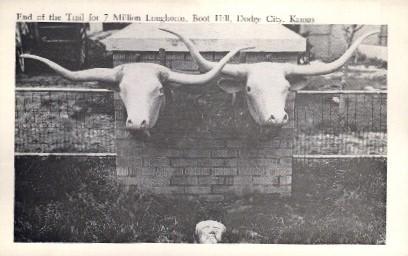 Boot City - Dodge City, Kansas KS Postcard