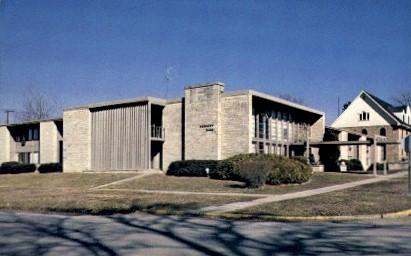 Denious Hall, Baker University   - Baldwin City, Kansas KS Postcard
