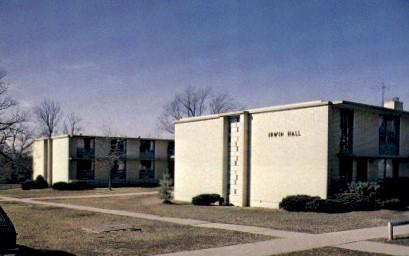 Irwin Hall, Baker University - Baldwin City, Kansas KS Postcard