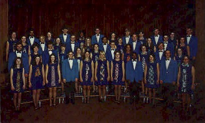 Baker University Choir - Baldwin City, Kansas KS Postcard