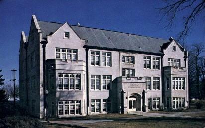Mulvane Hall, Baker University - Baldwin City, Kansas KS Postcard
