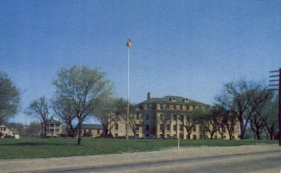 Post Headquarters - Fort Riley, Kansas KS Postcard