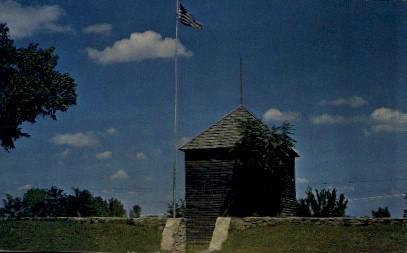 Old Fort - Fort Scott, Kansas KS Postcard